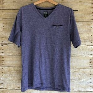Point zero purple tee size large